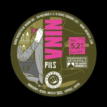 NINA PILS 5.2° 20 LT ACCIAIO
