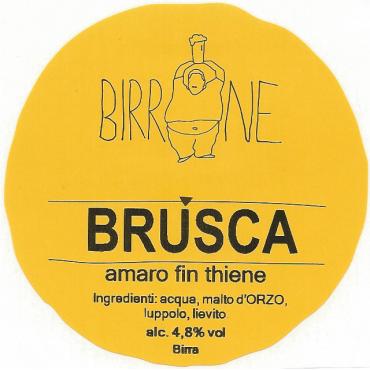BRUSCA  PILS 4.8° 20 LT ACCIAIO