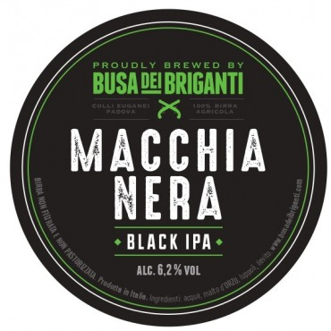 MACCHIANERA BLACK IPA 6.2° 20 LT ACCIAIO