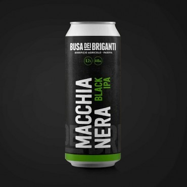 MACCHIANERA BLACK IPA 6.2° 44 CL LATTINA