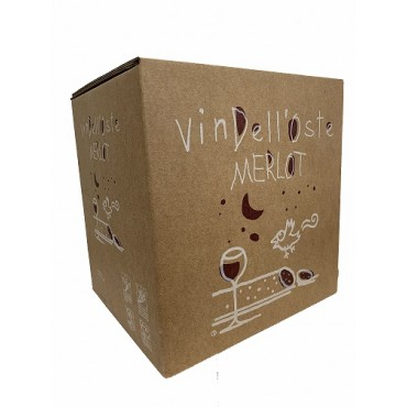 VIN DELLOSTE MERLOT 5 LT BAG IN BOX
